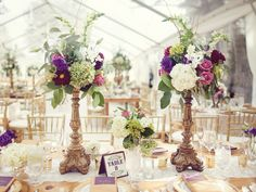 What's the Best Way to Transport Tall Centerpieces? | Photo by: Anne Marie Photography | TheKnot.com