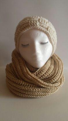 Camel Infinity Scarf JNEEDLE Designs item.
