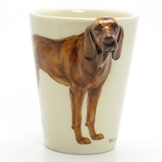 Hungarian Vizsla Mug 00001 Ceramic 3D Coffee Cup Handmade Dog Lover | madamepomm - Housewares on ArtFire