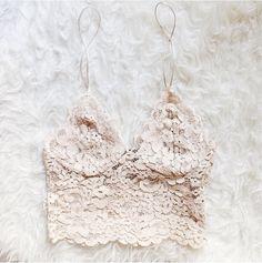 LA COOL & CHIC//lacey long line bra//