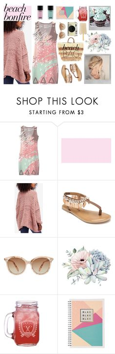 """beach pastels"" by bleshka ❤ liked on Polyvore featuring Polaroid, Free People, Penny Loves Kenny, Victoria Beckham and Retrò"
