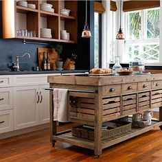 Stone Top Double Kitchen Island with small pendant lightng Kitchen Decor, Kitchen Design, Kitchen Ideas, Masculine Kitchen, Country Kitchen Island, Cheap Furniture Stores, Industrial Style Furniture, Girls Bedroom Furniture, Farmhouse Kitchen Cabinets