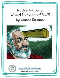 Noah's Ark song, flipchart and more by Jeanne Dickson Bible verses Bible Songs For Kids, Preschool Bible Lessons, Noah's Ark Bible, Noah Ark, Bible Stories, Bible Verses Quotes, Rainbows, Jr, Action