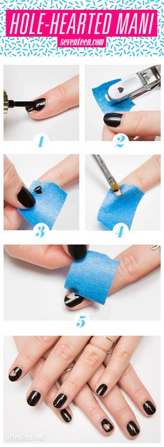 Edgy Heart Manicure How-To