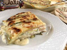 parmigiana bianca di zucchine Mamma Mia, Fett, Lasagna, Cauliflower, Pasta, Vegetables, Ethnic Recipes, Oven, Lasagne
