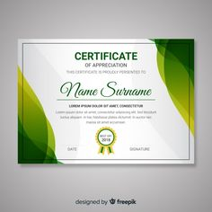 Certificate template with abstract modern shapes Certificate Of Recognition Template, Certificate Layout, Blank Certificate Template, Certificate Background, Certificate Of Achievement Template, Free Certificates, Certificate Of Appreciation, Powerpoint Design Templates, Borders For Paper