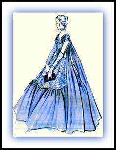 UNCUT 1950s Modes Royale Pattern 1543  GORGEOUS Ball by anne8865, $99.00