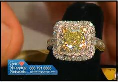 Lovely yellow diamond and white diamond ring.