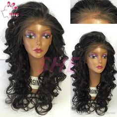 Hot Sloose Wave Glueless Full Lace Wig & front Lace Wig Brazilian Virgin Hair With Baby Hair For Black Women Online with $72.88/Piece on Sheladyhouse's Store | DHgate.com