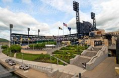 PNC Park  pinterest.com/... #hamptoninnmonroeville  www.facebook.com/... #pittsburghhotel Pittsburgh Hotels, Pittsburgh Pirates, Pnc Park, Park Homes, Vacation Travel, Get Directions, Marina Bay Sands, Traveling, Skyline