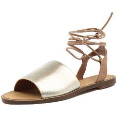 HAEL & JAX MOSS GOLD LEATHER (4.400 RUB) ❤ liked on Polyvore featuring shoes, leather lined shoes, gold leather shoes, metallic gold shoes, yellow gold shoes and safari shoes