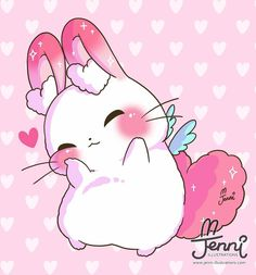 Kawaii drawings, kawaii art y cute chibi. Kawaii Anime, Art Kawaii, Cute Kawaii Drawings, Kawaii Chibi, Cute Animal Drawings, Cute Chibi, Cartoon Drawings, Chibi Bunny, Bunny Love