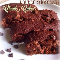 Spoonful Of Fit: Double Chocolate Chunk Cake