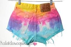 @Quey McCue these are for you .....Vintage Levi's Tie Dyed Denim High-Waisted Shorts