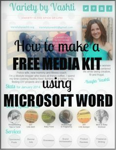 Can't afford to pay a designer? Don't have a fancy computer program? No problem. I walk you through using Microsoft Word to make a media kit!