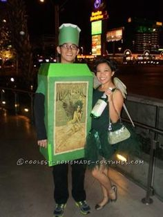 Coolest Absinthe and Green Fairy Couple Costume... This website is the Pinterest of costumes