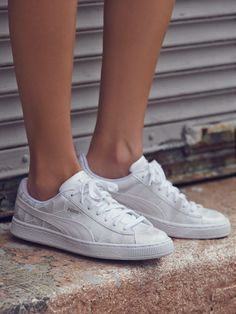 4b6c08ac6c313a Puma Basket Classic Metallic Trainer at Free People Clothing Boutique  Metallic Trainers