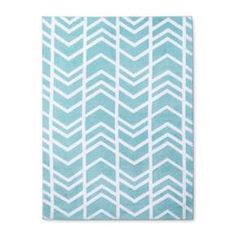 The Aqua Herringbone Micro Polyester Rug from Cloud Island™ is the finishing touch to your dream nursery. The aqua blue and bright white pattern will add a happy and inviting feel to your sweet baby's room. Place it under their crib or changing table so you can stand on comfort and style. The low pile rug height won't get in the way once you have an on-the-move crawler and walker, and the soft, knitted polyester will feel heavenly under their little baby toes.