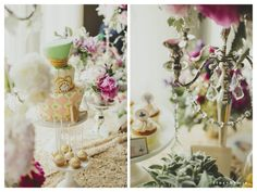 Haily & Olivia Alice in Wonderland themed 1st Birthday  - Cakes By Christine NY, Photo By: Story By Mia  Event Designer: Cana's Miracle
