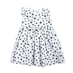 'Tara' Black and White Star Cotton Dress – cuteheads