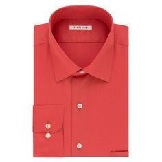 Men's Van Heusen Classic-Fit Solid Dress Shirt, Size: 18-34/35, Med Pink