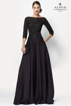 Alyce Paris – Special Occasion Collection – 27099 Dress – Famous Last Words Mob Dresses, Modest Dresses, Simple Dresses, Bridal Dresses, Casual Dresses, Dresses With Sleeves, Wedding Gowns, Casual Evening Dresses, Paris Dresses