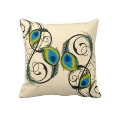 Found this for sale, but I think I could figure out how to fabric paint this onto either a pillow or tote. May be able to embroider the yellow/turq/blue bits and fabric paint the rest. Get Crafty! Peacock Room Decor, Peacock Living Room, Peacock Bedroom, Peacock Pillow, Peacock Art, Peacock Feathers, Peacock Crafts, Peacock Theme, Peacock Bedding
