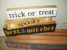 2X4 Halloween Signs - could use the 2x4 idea for lots of holidays