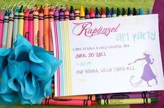 "Photo 1 of rapunzel, tangled / Birthday ""Rapunzel Art Party "" Rapunzel Birthday Party, Tangled Party, Disney Princess Party, Birthday Fun, Tangled Movie, Birthday Ideas, Disney Tangled, Art Party Invitations, Birthday Invitations"