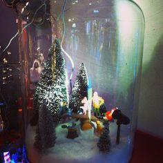 Jardi +: déco Noel bonbonnière scène hiver