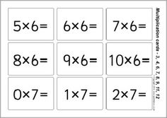 Unusual image throughout printable multiplication flash cards double sided
