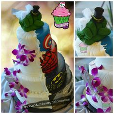 This Wedding Cake Has a Secret Superhero Identity