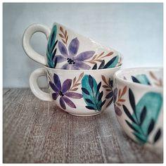 Home Decoracion, Mug Printing, Cup Design, Modern Ceramics, Pottery Painting, Dinnerware, Flower Arrangements, Tea Cups, Clay