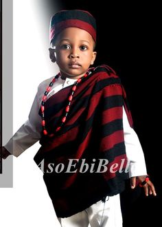 @PrinceOcheOchella African Men Fashion, African Fashion Dresses, Boy Fashion, Fashion Children, Fashion Ideas, African Outfits, African Dresses For Kids, African Children, African Attire