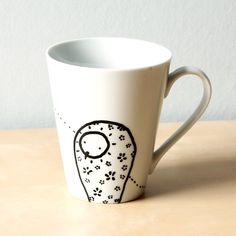 Two owls Mug - Handpainted mug