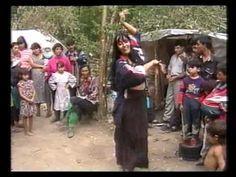 Lera performing Ruska Roma's dance for Magyar Gypsies.  2000. Лера Янышева в таборе венгерских цыган