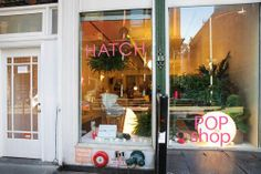 New York City, SOHO : Serena & Lily  and ( maternity clothes, before and after)  Hatch combine to make a great pop-up shop. Think of joining forces with another brand you like! PopUp Republic