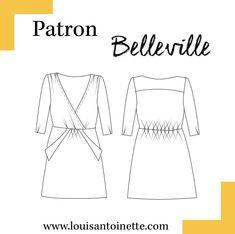Belleville Dress - The Foldline Dress Patterns, Sewing Patterns, Big People, Pattern Library, Collection, Belleville, Dresses, France, Pdf