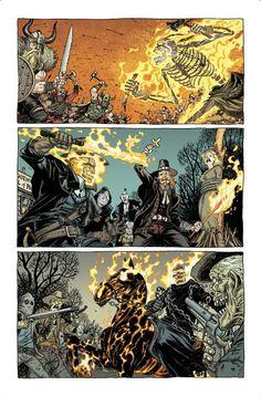 Ghost Rider throughout History Ghost Rider 2007, Ghost Rider Marvel, Marvel Comics Art, Marvel Comic Books, Kickass Comic, Power Rangers, Superhero Memes, Fantasy Monster, Marvel Cinematic