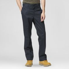 Dickies Men's Regular Straight Fit Twill Work Pants with Extra Pocket-