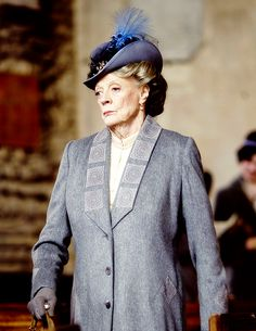 Last Days of Downton Maggie Smith as Violet Crawley, with David Robb as Dr Clarkson - Downton Abbey, episode 6x03..