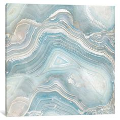 Found it at Wayfair - Agate in Blue I Graphic Art on Wrapped Canvas