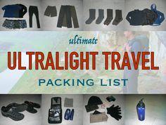 Ultimate Ultralight Travel Packing List