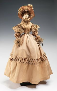 """1828 Doll"" by Henriette Beaujeu at the Metropolitan Museum of Art, New York - Part of a series of dolls inspired by the history of French couture to raise public relief funds in 1949."