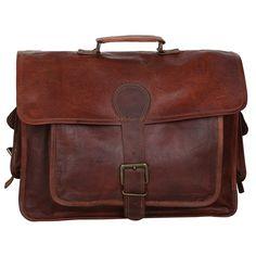 Mens Leather Messenger Satchel Shoulder 13 15.6 17