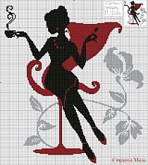 haft krzyżykowy - dziewczyna