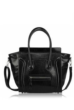 Ruth Black Tote Handbag With Long Strap 391cabf26c6