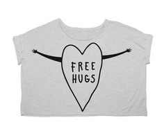 Womens Free Hugs Tee  by Candy For Richmen - this would be cute...the kids would love it