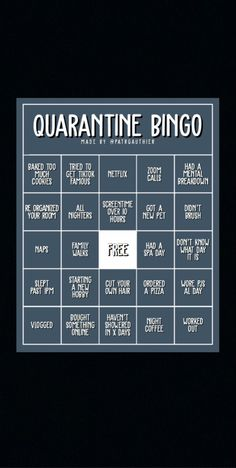#quarantine #snapchat #bingo #game