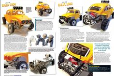 From our January 2013 issue comes this eye-popping Kevin Jowett creation, based on Tamiya's legendary Sand Scorcher. Lots of great detail here, and it couldn't look more killer. Tamiya Model Kits, Tamiya Models, Remote Control Cars, Radio Control, Rc Off Road, Vw Baja Bug, Rc Buggy, Rc Crawler, Rc Hobbies